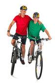 Bicicleta juntos — Foto de Stock