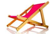 Pink beach chair — Stock Photo
