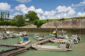 Barcos de mejillón en francés oleron — Foto de Stock