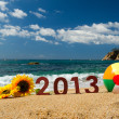 2013 on the beach — Stock Photo