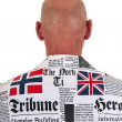 Back bald man — Stock Photo