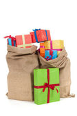 Many presents in bags — Stock Photo