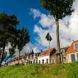 Stock Photo: Dutch dike houses