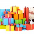 SantClaus with many presents — Stockfoto #14225257