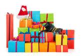 Birçok noel hediyeleri — Stok fotoğraf