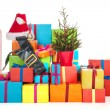 Many Christmas presents - Stock Photo
