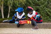 Dutch black Petes climbing — Stock Photo