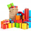 Many presents for Dutch Sinterklaas eve - Stock Photo