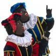 Dutch black petes pointing - Stock Photo