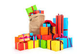 Many presents for Dutch Sinterklaas eve — Stock Photo