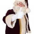 Santa Claus with thumbs up — Stock Photo