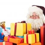 Père Noël avec des cadeaux — Photo