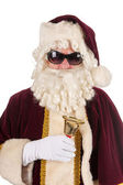 Santa Claus with sunglasses — Stock Photo