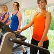 Stockfoto: Running exercise in the sportclub