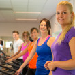 Running exercise in the sportclub — Stock Photo