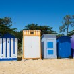 Beach huts on island Oleron in France — Stock Photo