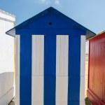 Backside beach huts on island Oleron in France — Stock Photo