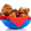 Dutch oliebollen for new years eve — Stock Photo