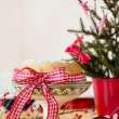 Christmas turban at the table — Stock Photo