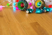 Christmas ornaments with copy space — Foto de Stock