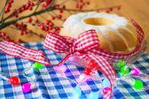Tasty turban cake for christmas — Stock Photo