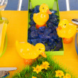 Foto Stock: Detail easter table