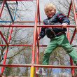 Child playing in playgarden — Stock Photo