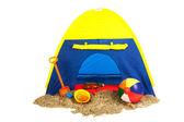 Beach tent — Stock Photo