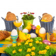 Detail easter table - Stock Photo