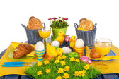 Detail easter table — Stock Photo