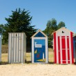 Royalty-Free Stock Photo: Beach huts on island Oleron in France