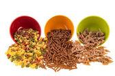 Wholemeal pasta assortment — Stock Photo