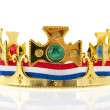 Dutch golden crown for the king — Stock Photo #20821533