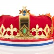 Golden crown with Dutch colors — Stock Photo
