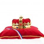 ������, ������: Golden crown on velvet pillow with Dutch flag