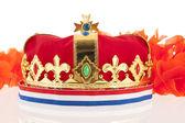 Corona de oro con colores holandés — Foto de Stock