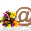 E-sign for e-mail — Stock Photo