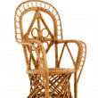 Cane wicker chair — Stock Photo