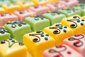 Colorful Petit fours for the party — Stock Photo