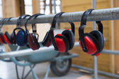 Headphones for hearing safety — Stock Photo