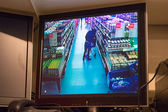 Security camera in supermarket — Stock Photo