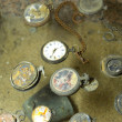 Found watches in Oradour sur Glane — Stock Photo