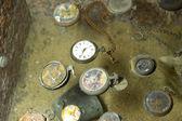 Found watches in Oradour sur Glane — Stock Photo