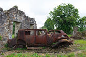 Cars of the doctor in Oradour sur Glane — Stock Photo