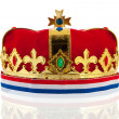 Dutch golden crown for the king — Stock Photo