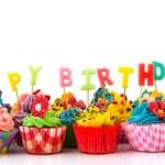 Happy birthday cupcakes — Stock Photo #24072965