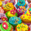 Stock Photo: Birthday cupcakes