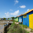 Colorful wooden cabins — Stock Photo #24943447