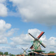 Windmills at Dutch Zaanse Schans — Stock Photo #24943689