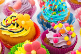 Birthday cupcakes — Stock Photo